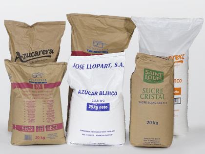 Azúcar blanquilla en sacos