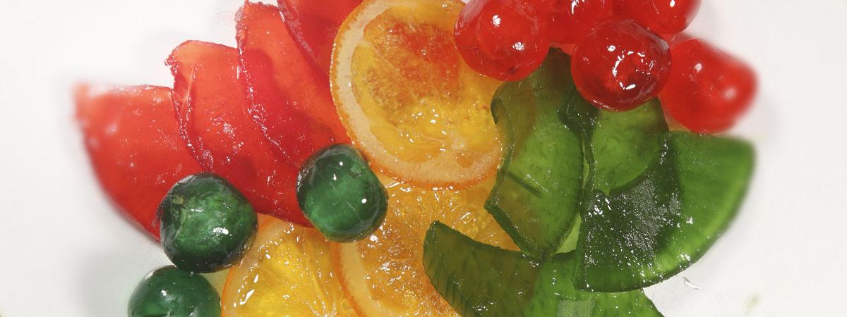 Venta de frutas confitadas y en coserva